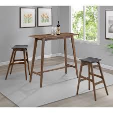 coaster furniture coaster landers 3 piece rectangular pub table set coa3193