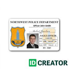 Id Cards Template Police Id Badge