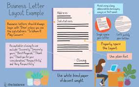 Letter Bussines The Best Formatting For A Business Letter