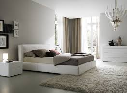 Modern Bedroom Styles Bedroom Charming White Brown Wood Glass Modern Design Art Deco