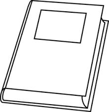 book outline clip art