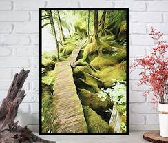 oil painting printnature wall artnature