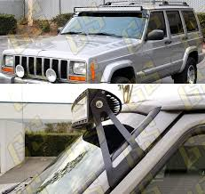 1997 Jeep Cherokee Light Bar Gs Power Led Light Bar Brackets Option Of 50 52 Inch Curved Mount Off Road Barlight At Roof Upper Windshield Compatible With 1984 2001 Jeep