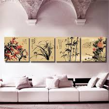 2018 chinese art paintings four kinds flower wall art prints for room decoration canvas art beautiful chinese paintings from guocunhan2016 24 14 dhgate