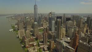 Downtown Manhattan 1 WTC, Sunny Day New York City Skyline ...