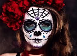 embedded sugar skull makeup design