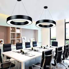 office chandelier modern office led circle pendant lights round suspension hanging pendant lamp ring chandelier home office chandelier lighting