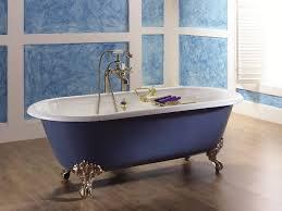 1 cast iron bath bathtub in bathroom interior