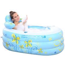 jingdong lightning noau irun insulation large inflatable bathtub family bathtub bucket young children s pool baby folding shower bathtub medium