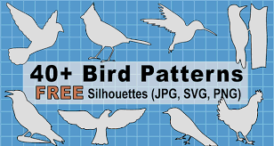 bird silhouette patterns print and
