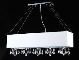 angelina white 5 light rectangular chrome crystal chandelier 8 hx39 5