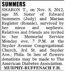 Obituary for SHARON T. SUMMERS (Aged 55) - Newspapers.com
