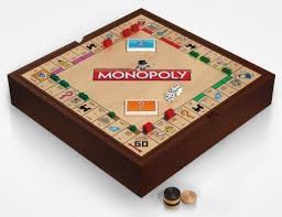 Wooden Monopoly Game Set