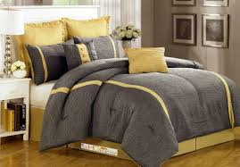 comforter sets minimalist bedroom yellow gray comforter sets queen white wooden bedside table single drawer