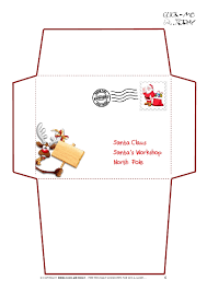 little envelope template santa envelope oyle kalakaari co