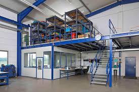office mezzanine. Storage Mezzanine With Racking And Foreman\u0027s Office A