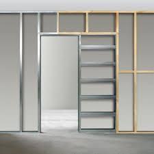 single sliding cavity door system
