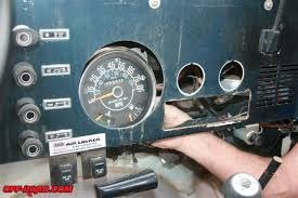 replacing jeep cj 7 instrumentation gauges off road com the large center speedometer cluster was the final gauge to be removed