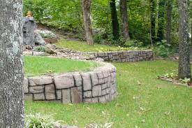 retaining wall builder contractor shotcrete stamped concrete