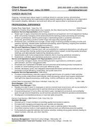 Resume Samples For Banking Professionals And Teller Resume Sample