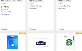 bjs save on gift cards for starbucks disney uber chipotle