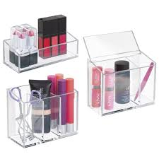 mDesign AFFIXX Peel-and-Stick Adhesive Vanity Cosmetic Organizer for Hair  Care Jewelry Bath