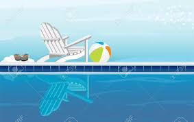 swimming pool beach ball background. Swimming Pool Beach Ball Background Relaxing And Adirondack Chair With Flip Flops .