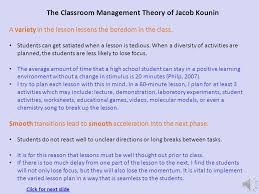 The Classroom Management Theory - ppt download