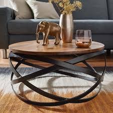Finebuy Couchtisch Munar Wohnzimmertisch Holz Massiv Sofatisch Tisch