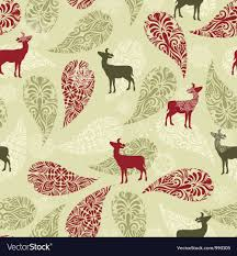 Christmas Pattern Background Extraordinary Retro Christmas Pattern Background Royalty Free Vector Image