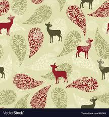 Christmas Pattern Background Extraordinary Retro Christmas Pattern Background Royalty Free Vector Image