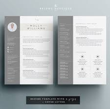 Resume Design Templates Best Resume Template 24 Page CV Template Cover Letter For MS Word