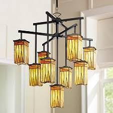 asian lighting. sedona collection 9light shaded chandelier asian lighting l
