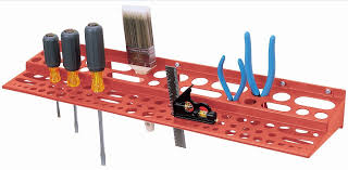 plastic wall mounted tool holder rack