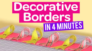 how to create decorative borders in 4 minutes