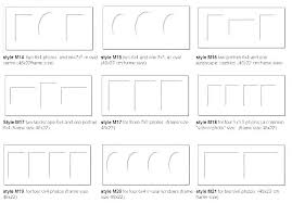 Photograph Sizes Chart Most Common Picture Frame Sizes Comovamos Co