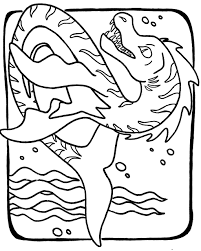 Sea Monster Coloring S Coloring Pages Download