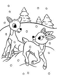 Small Picture Rudolph and Clarice are Santas the Reindeer Coloring Page Color Luna