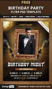 birthday party flyer psd template designyep birthday party flyer psd template