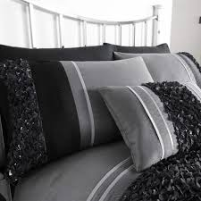 bedding fitted sheets black grey