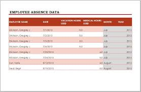 Employee Vacation Tracker Template For Ms Excel Word