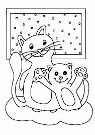 Kleurplaat Moederpoes Ik Wil Een Poesnl Within Kittens Kleurplaat