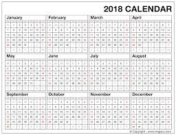 yearly printable calendar 2018 at a glance calendar 2018 expin franklinfire co