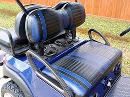 golf cart seat cover upholstery extreme striped blue with black for club car
