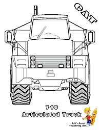 cat 740 construction truck printable