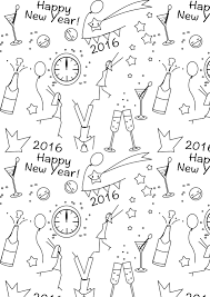 Free Printable New Year S Coloring