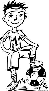 Coloriage Jeune Joueur De Foot Dessin