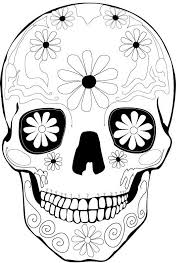 Small Picture day of the dead skull coloring sheets day of the dead skull