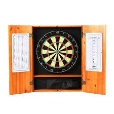 Dart Board Cabinet With Chalkboard Gld Products Viper Metropolitan Oak Steel Tip Dartboard Cabinet