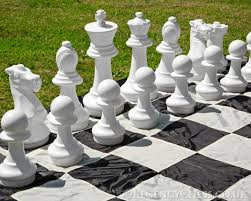 garden chess set. Jumbo Garden Chess Set Larger Image